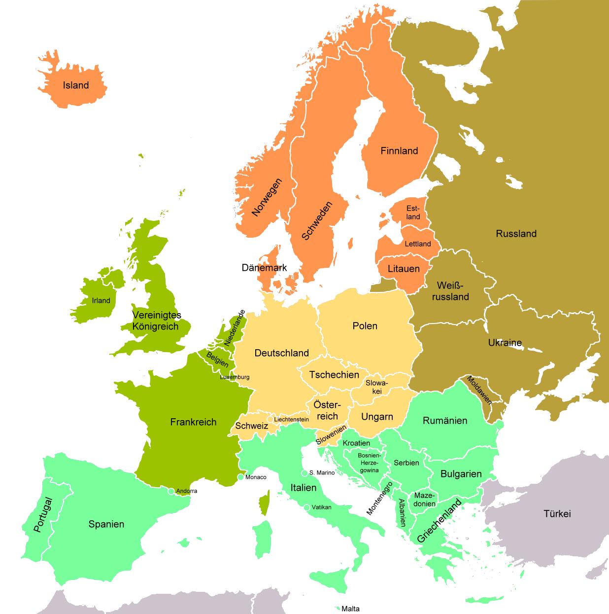 Kontinente Europa